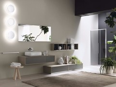 - Laminate bathroom cabinet / vanity unit MAQ - Composition 3 - INDA®