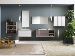 - Laminate bathroom cabinet / vanity unit MAQ - Composition 4 - INDA®