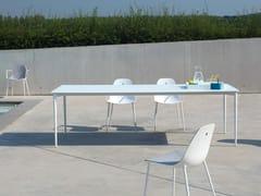 - Rectangular glass and aluminium garden table MARGUERITE | Glass and aluminium table - Joli