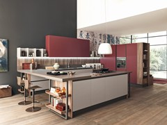 Cucina componibile in Fenix-NTM® con penisola MARINA 3.0 | Cucina in Fenix-NTM® - FEBAL CASA BY COLOMBINI GROUP