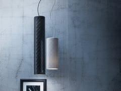 - Imitation leather pendant lamp MARIÙ TUBE - LUCENTE - Gruppo Rostirolla