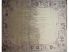 - Handmade rectangular custom rug MARQUISE VINTAGE SHADOW PURPLE - EDITION BOUGAINVILLE