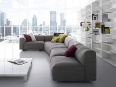 - Corner sectional fabric sofa with removable cover MATE 2012 | Corner sofa - MDF Italia