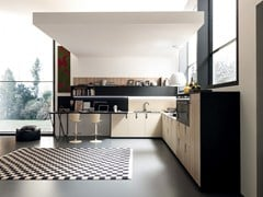 Cucina componibile lineare in Fenix-NTM® MATERIA | Cucina lineare - FEBAL CASA BY COLOMBINI GROUP