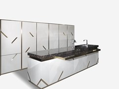 Cucina in marmo con isolaMAYFAIR - VISIONNAIRE BY IPE