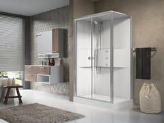 Box doccia multifunzione rettangolare con porta scorrevoleMEDIA 2.0 2P 120X80 - NOVELLINI