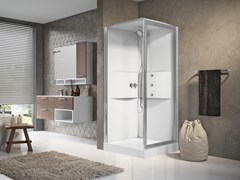 Box doccia multifunzione con porta a battenteMEDIA 2.0 GF90 - NOVELLINI