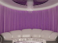 - Solid-color fabric curtain MEETING - Arquati Service