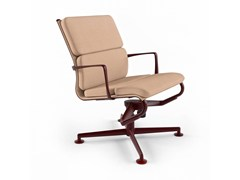 - Height-adjustable swivel task chair with armrests MEETINGFRAME LOUNGE 52 SOFT - 469 - Alias