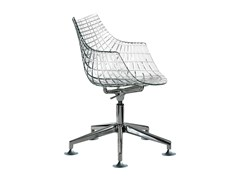 - Chair with 5-spoke base MERIDIANA - Driade