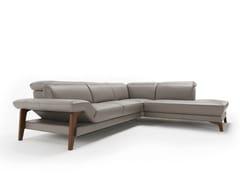 - Corner leather sofa MERIEM | Corner sofa - Egoitaliano