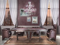 - Oval leather living room table MILLA | Oval table - Formitalia Group
