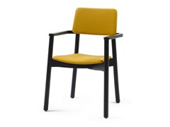 - Upholstered stackable fabric chair with armrests MINE HB + A - Z-Editions