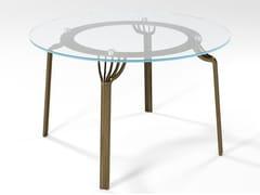Tavolo da pranzo rotondo in cristalloMING | Tavolo in cristallo - BAREL