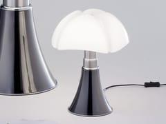 - Titanium table lamp MINIPIPISTRELLO TITANIUM VERSION - Martinelli Luce