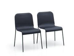- Stackable polyester garden chair MIRA | Chair - Paola Lenti