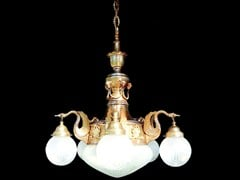 - Direct light handmade brass chandelier MISKOLC I | Brass chandelier - Patinas Lighting