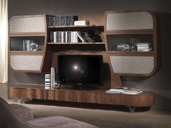 - Solid wood TV wall system MISTRAL B - Carpanelli Contemporary
