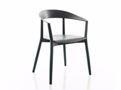 - Lacquered solid wood chair with armrests MITO | Lacquered chair - conmoto by Lions at Work