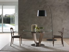 - Wood and glass table MOBIUS | Round table - Pacini & Cappellini