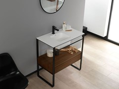 - Console Krion® washbasin with integrated countertop MODUL | Console washbasin - Systempool