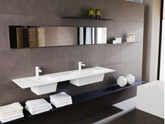 - Double wall-mounted Krion® washbasin MODUL | Double washbasin - Systempool
