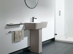 - Single Krion® washbasin MODUL | Pedestal washbasin - Systempool