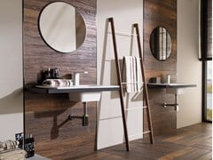 - Krion® washbasin with integrated countertop MODUL | Wall-mounted washbasin - Systempool