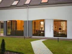 Porta d'ingresso blindata ad arco con pannelli in vetroMONOLITE - 15.1018 MNT8000 - BAUXT