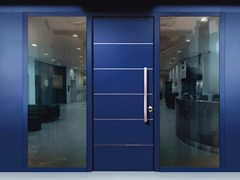 Porta d'ingresso blindata con pannelli in vetroMONOLITE - 15.1020 MNT6000 - BAUXT
