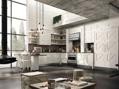 - Fitted wood kitchen MONTSERRAT - COMPOSITION 05 - Marchi Cucine