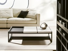 - Low coffee table with tray MOSAICO | Lacquered coffee table - Pacini & Cappellini