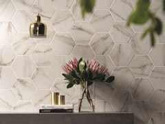 Pavimento/rivestimento in gres porcellanato effetto marmoMOTIF CALACATTA GOLD - CERAMICHE MARCA CORONA