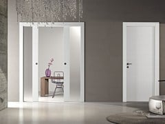 - Wood and glass pocket sliding door MS | Pocket sliding door - Pail Serramenti