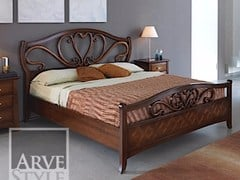 - Solid wood double bed NAIMA | Double bed - Arvestyle