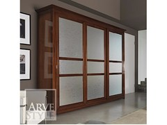 - Wood and glass wardrobe with sliding doors NAIMA | Wooden wardrobe - Arvestyle