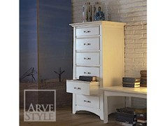 - Free standing solid wood chest of drawers NAIMA | Lacquered chest of drawers - Arvestyle