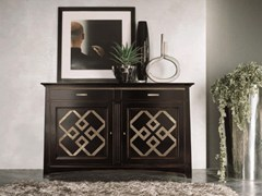 - Solid wood sideboard with doors NAIMA | Lacquered sideboard - Arvestyle