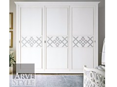 - Solid wood wardrobe with sliding doors NAIMA | Lacquered wardrobe - Arvestyle