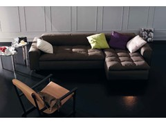 - Upholstered fabric sofa with chaise longue NAP | Sofa with chaise longue - arflex