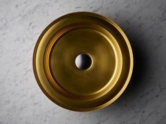 Lavabo rotondo singolo in acciaio inoxNARCIS BRASS | Lavabo rotondo - BASSINES