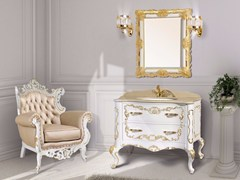 - Lacquered vanity unit with drawers with mirror NAXOS CM01NA - LA BUSSOLA