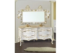 - Double vanity unit with drawers with mirror NAXOS CM02NA - LA BUSSOLA