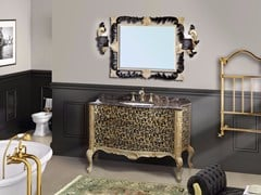 - Lacquered vanity unit with drawers with mirror NAXOS CM05NA - LA BUSSOLA