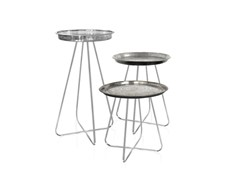 - Round metal side table NEW CASABLANCA | Metal coffee table - Mineheart
