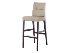 - Upholstered leather counter stool with footrest NEW GALA KL82 - Z-Editions