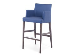 - Leather counter stool with armrests with footrest NEW GALA LOUNGE KL 82 - Z-Editions