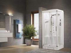 Box doccia angolare con idromassaggio con porta scorrevoleNEW HOLIDAY 2P 100X70 - NOVELLINI