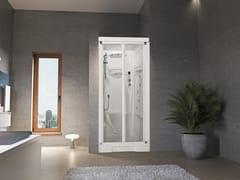 Box doccia a nicchia con idromassaggio con porta a soffiettoNEW HOLIDAY BI100 - NOVELLINI