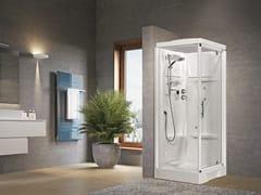 Box doccia angolare con idromassaggio con porta a battenteNEW HOLIDAY GF80 - NOVELLINI